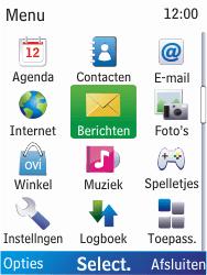 Nokia X2-00 - E-mail - hoe te versturen - Stap 3