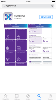 Apple iPhone 6 Plus iOS 9 - Applicaties - MyProximus - Stap 6
