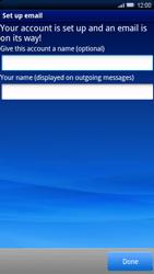 Sony Xperia X10 - E-mail - Manual configuration - Step 11