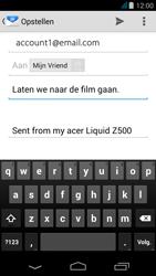 Acer Liquid Z500 - E-mail - e-mail versturen - Stap 7
