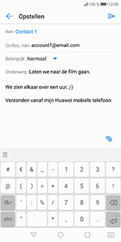Huawei P Smart (Model FIG-LX1) - E-mail - Bericht met attachment versturen - Stap 11