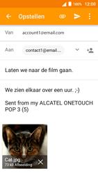 Alcatel OneTouch POP 3 (5) 3G (OT-5015X) - E-mail - Hoe te versturen - Stap 14