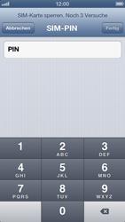 Apple iPhone 5 - Basisfunktionen - SIM-PIN aktivieren und ändern - Schritt 6