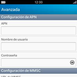 BlackBerry Q5 - Mensajería - Configurar el equipo para mensajes multimedia - Paso 8