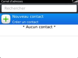 BlackBerry 9320 - Contact, Appels, SMS/MMS - Ajouter un contact - Étape 4