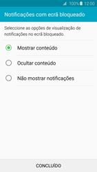 Samsung Galaxy S6 - Segurança - Como ativar o código de bloqueio do ecrã -  11