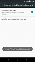 HTC Desire 650 - Sécuriser votre mobile - Personnaliser le code PIN de votre carte SIM - Étape 13