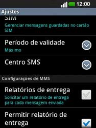 LG E400 - SMS - Como configurar o centro de mensagens -  6
