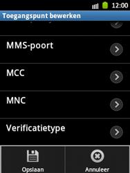 Samsung S5300 Galaxy Pocket - MMS - Handmatig instellen - Stap 15