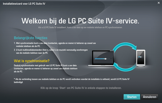 LG Spirit (H420F) - Software - Download en installeer PC synchronisatie software - Stap 9