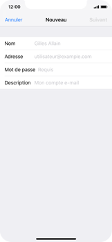 Apple iPhone XS - E-mail - Configuration manuelle - Étape 7