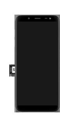 Samsung Galaxy J6 - Premiers pas - Insérer la carte SIM - Étape 5