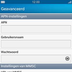 BlackBerry Q10 - MMS - Handmatig instellen - Stap 8