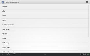 Samsung P7500 Galaxy Tab 10-1 - Internet - Configurar Internet - Paso 7
