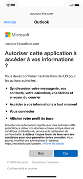Apple iPhone XS - E-mail - 032c. Email wizard - Outlook - Étape 8