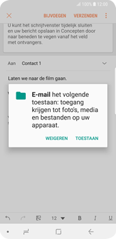 Samsung Galaxy S9 (SM-G960F) - E-mail - Bericht met attachment versturen - Stap 12
