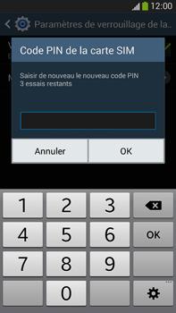 Samsung Galaxy Note 3 - Sécuriser votre mobile - Personnaliser le code PIN de votre carte SIM - Étape 10