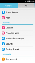 Huawei Ascend Y625 - Device - Factory reset - Step 5