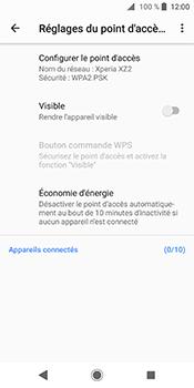 Sony Xperia XZ2 - Internet et connexion - Partager votre connexion en Wi-Fi - Étape 10