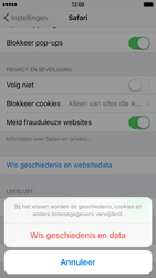 Apple iPhone 6 met iOS 9 (Model A1586) - Privacy - Cookies en geschiedenis wissen - Stap 5
