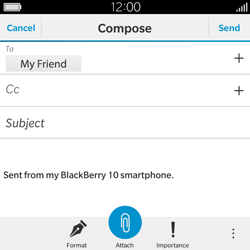 BlackBerry Classic - Email - Sending an email message - Step 10