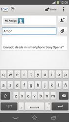 Sony Xperia Z1 - E-mail - Escribir y enviar un correo electrónico - Paso 9