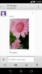 Sony Xperia L - Mensajería - Escribir y enviar un mensaje multimedia - Paso 17