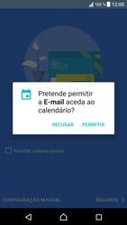 Sony Xperia XZ - Android Nougat - Email - Adicionar conta de email -  12