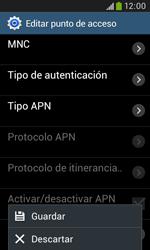 Samsung S7580 Galaxy Trend Plus - Mensajería - Configurar el equipo para mensajes multimedia - Paso 16