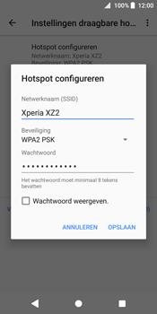 Sony Xperia XZ2 (H8216) - WiFi - Mobiele hotspot instellen - Stap 8