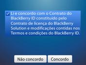 BlackBerry 9620 - Primeiros passos - Como ativar seu aparelho - Etapa 7