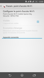 Sony Xperia E4g - Internet et connexion - Partager votre connexion en Wi-Fi - Étape 7