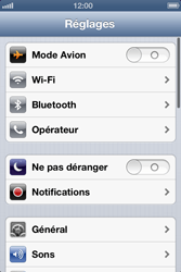 Apple iPhone 4 - iOS 6 - Wifi - configuration manuelle - Étape 2