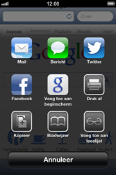 Apple iPhone 4S met iOS 6 (Model A1387) - Internet - Hoe te internetten - Stap 5