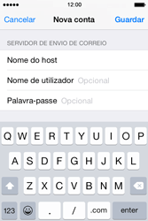 Apple iPhone 4S iOS 8 - Email - Configurar a conta de Email -  14