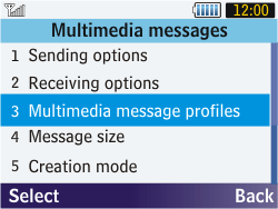 Samsung S3570 Chat 357 - MMS - Manual configuration - Step 17
