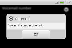 HTC A810e ChaCha - Voicemail - Manual configuration - Step 8