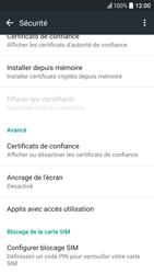 HTC 10 - Sécuriser votre mobile - Personnaliser le code PIN de votre carte SIM - Étape 5