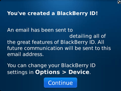 BlackBerry 9360 Curve - BlackBerry activation - BlackBerry ID activation - Step 12