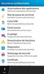 BlackBerry Z10 - Sécuriser votre mobile - Personnaliser le code PIN de votre carte SIM - Étape 5