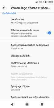 Sony Xperia XZ2 - Sécuriser votre mobile - Personnaliser le code PIN de votre carte SIM - Étape 5