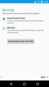 Sony Xperia Z5 Premium (E6853) - Android Nougat - E-mail - Manual configuration - Step 21