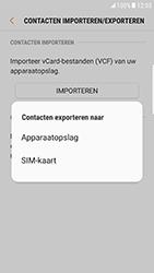 Samsung Galaxy S6 Edge - Android Nougat - Contacten en data - Contacten kopiëren van toestel naar SIM - Stap 8