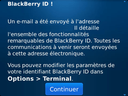 BlackBerry 9790 Bold - BlackBerry activation - BlackBerry ID activation - Étape 12
