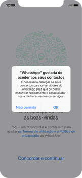 Apple iPhone X - Aplicações - Como configurar o WhatsApp -  5
