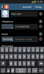 Samsung Galaxy Ace 3 - Contact, Appels, SMS/MMS - Ajouter un contact - Étape 14