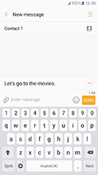 Samsung A320 Galaxy A3 (2017) - Mms - Sending a picture message - Step 10