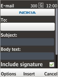 Nokia 6303i classic - E-mail - Sending emails - Step 8