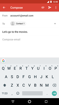 Nokia 6 (2018) - E-mail - Sending emails - Step 8
