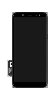 Samsung Galaxy A6 - Premiers pas - Insérer la carte SIM - Étape 9